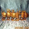 Солдатики Греки золотые (пехота)