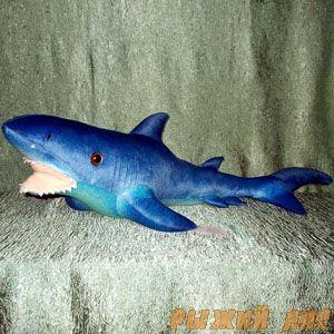 Мягкая игрушка Акула синяя 115 см