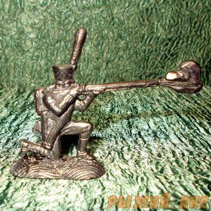 Русский стрелок с ружьем 1812