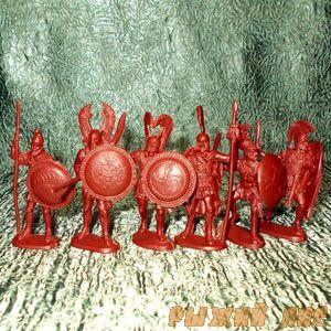 Солдатики Греки коричневые (пехота)
