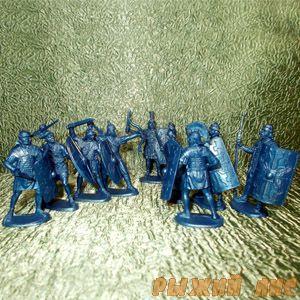 Солдатики Римляне синие (пехота)