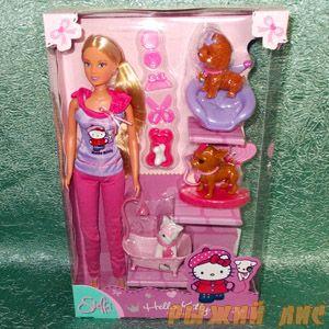 Кукла Штеффи с собачками