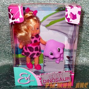 Еви с динозавриком. Вид №1.