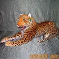 Большой Леопард с оскаленной пастью