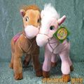 Плюшевая лошадь розовая