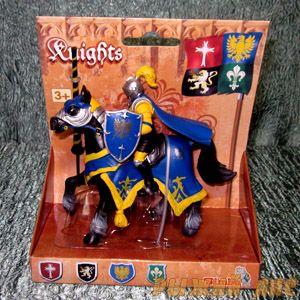 Синий рыцарь на коне. Вид №2.