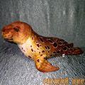 Мягкая игрушка Тюлень (коричневый)