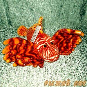 Рыба Зебра-Крылатка оранжевая