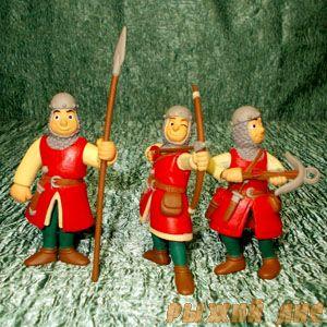 Комплект фигурок Средневековые Воины