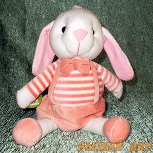 Мягкая игрушка Заяц (в розовом платьице)
