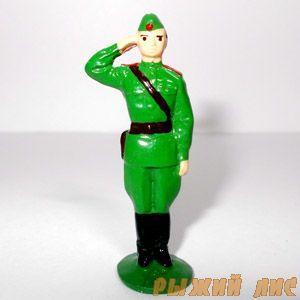 Офицер отдающий честь (крашеный)