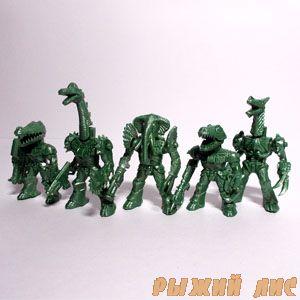 Роботы Звери №4 (зеленые 5 штук)