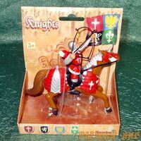 Красный рыцарь на коне. Вид№4.