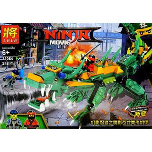 Конструктор LELE Ниндзя Зеленый Дракон