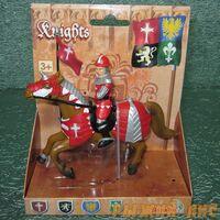 Красный рыцарь на коне. Вид№2.