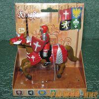Красный рыцарь на коне. Вид№3.
