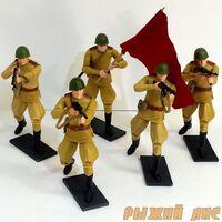 Комплект фигурок Советская пехота