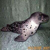 Мягкая игрушка Тюлень (серый)