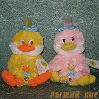 Утка с утёнком Желтая (муз.)