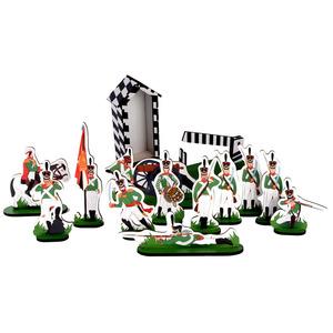 Набор солдатиков 1812 года - Кутузов (с будкой)