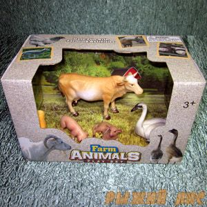 """Набор животных """"Ферма"""". Вид №1."""