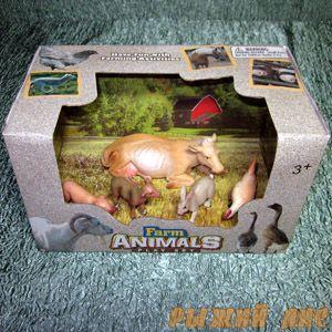 """Набор животных """"Ферма"""". Вид №2."""
