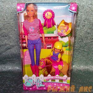 Куклы Штеффи и Еви с пони