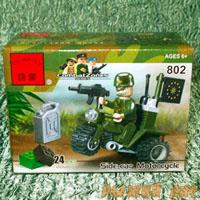 Военный Мотоцикл с водителем