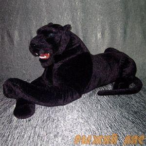 Большая Черная Пантера с оскалом