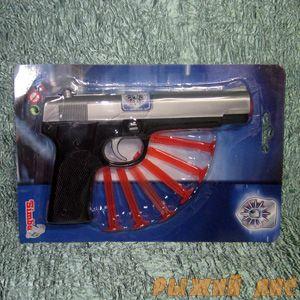 Полицейский пистолет с липучками