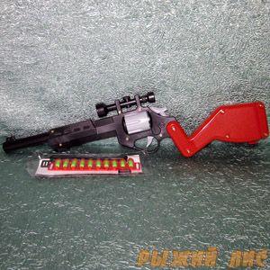 Детская винтовка с прицелом (с пульками)
