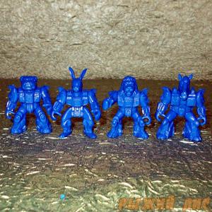 Звероботы 90-х - Набор №4. (синие)